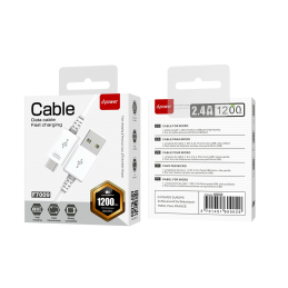 Câble micro usb 1,2m - Blanc