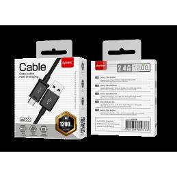 Câble micro usb 1,2m - Noir