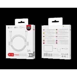 Câble Type C vers Type C 1m - Blanc