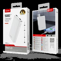 Power Bank 5000 MAH - Blanc