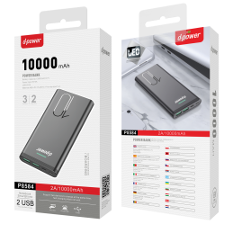 Power Bank 10000 MAH LED - Noir